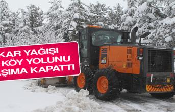 Kar Yağışı 68 Köy Yolunu Ulaşıma Kapattı