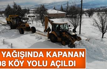 Kar Yağışında Kapanan 108 Köy Yolu Açıldı