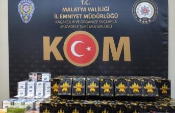 Malatya'da 118 kilogram gümrük kaçağı nargile kömürü ele geçirildi