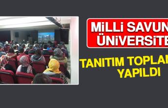 Milli Savunma Üniversitesi Tanıtım Toplantısı Yapıldı
