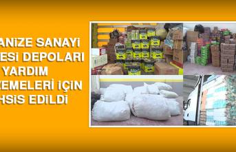 Organize Sanayi Bölgesi Depoları, Yardım Malzemeleri İçin Tahsis Edildi