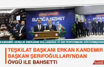 Teşkilat Başkanı Erkan Kandemir Başkan Şerifoğulları'ından Övgü İle Bahsetti