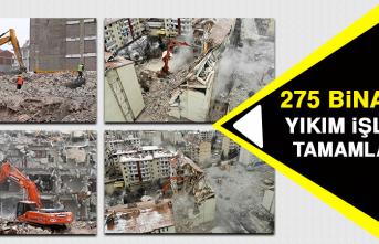 275 Binanın Yıkım İşlemi Tamamlandı