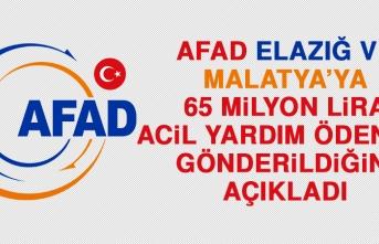 AFAD: 65 Milyon Lira Acil Yardım Ödeneği Gönderildi