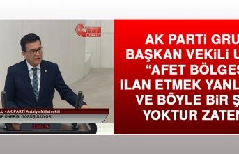 AK Parti Grup Başkan Vekili Uslu Açıklamalarda Bulundu