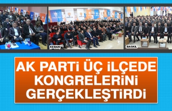 AK Parti, Üç İlçede Kongrelerini Gerçekleştirdi