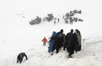 Bahçesaray'da çığ altında kalan ekiplerdeki 25 kişi kurtarıldı