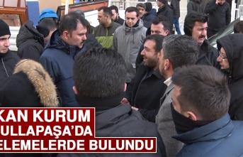Bakan Kurum, Abdullapaşa'da İncelemelerde Bulundu