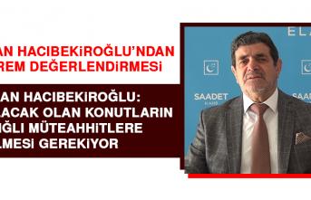 Başkan Hacıbekiroğlu'ndan Deprem Değerlendirmesi