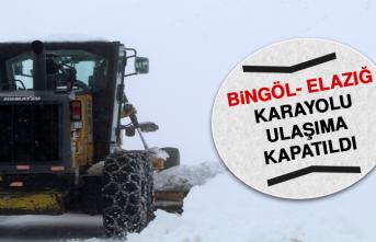 Bingöl- Elazığ Karayolu Ulaşıma Kapatıldı