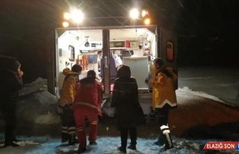 Bingöl'de köyde rahatsızlanan 2 çocuk paletli ambulansla hastaneye nakledildi
