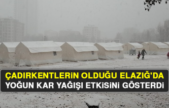 Çadırkentlerin Olduğu Elazığ'da Yoğun Kar Yağışı Etkisini Gösterdi