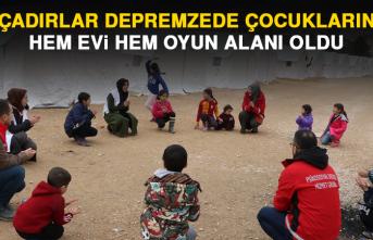Çadırlar Depremzede Çocukların Hem Evi Hem Oyun Alanı Oldu