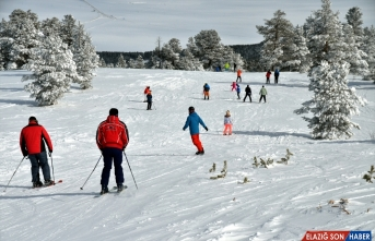 Cıbıltepe'de sıfırın altında 16 derecede kayak keyfi