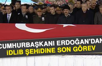Cumhurbaşkanı Erdoğan'dan İdlib Şehidine Son Görev
