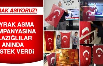 Elazığ'da Bayrak Asma Kampanyasına Vatandaş Anında Karşılık Verdi!
