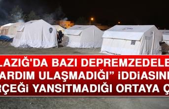 """Elazığ'da """"Bazı Depremzedelere Yardım Ulaşmadığı"""" İddiası"""