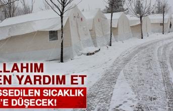 Elazığ'da Hissedilen Sıcaklık Eksi 15 Derecenin Altına Düşecek