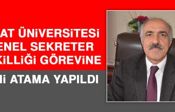 Fırat Üniversitesi Genel Sekreter Vekilliği Görevine Yeni Atama Yapıldı