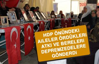 HDP Önündeki Aileler Ördükleri Atkı Ve Bereleri Depremzedelere Gönderdi