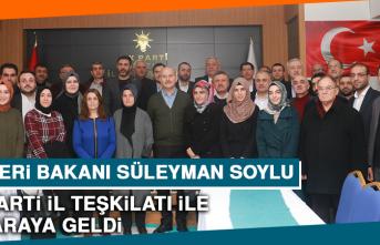 İçişleri Bakanı Süleyman Soylu, AK Parti İl Teşkilatı İle Bir Araya Geldi