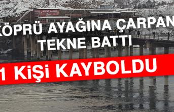Köprü Ayağına Çarpan Tekne Battı, 1 Kişi Kayboldu
