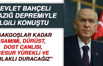 MHP Genel Başkanı Bahçeli, Elazığ Depremiyle İlgili Konuştu
