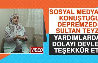 Sosyal Medyanın Konuştuğu Depremzede Sultan Teyze Yardımlardan Dolayı Devlete Teşekkür Etti