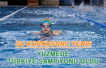 Su Korkusunu Yendi, Yüzmede Türkiye Şampiyonu Oldu