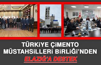 Türkiye Çimento Müstahsilleri Birliği'nden Elazığ'a Destek