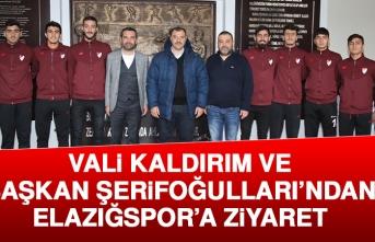 Vali Kaldırım ve Başkan Şerifoğulları'ndan Elazığspor'a Ziyaret