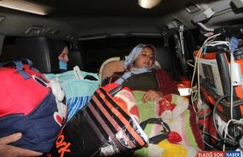 Van'da ekipler doğum hastası kadın için seferber oldu