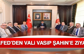 ANELFED'den Vali Vasip Şahin'e Ziyaret