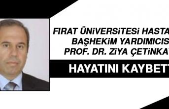 Başhekim Yardımcısı Prof. Dr. Ziya Çetinkaya Hayatını Kaybetti!