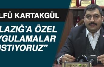 Başkan Kartakgül, Devlet Yetkililerine Seslendi