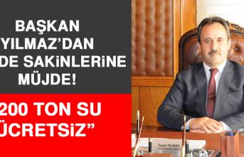 BAŞKAN YILMAZ'DAN BELDE SAKİNLERİNE MÜJDE!