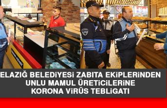 Elazığ Belediyesi Zabıta Ekiplerinden Korona Virüs Tebligatı