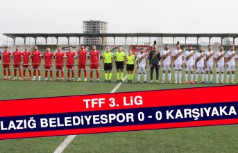 Elazığ Belediyespor 0 - 0 Karşıyaka