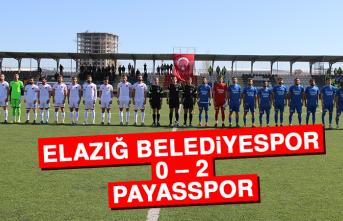 Elazığ Belediyespor 0 – 2 Payasspor