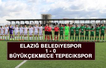 Elazığ Belediyespor 1-0 Büyükçekmece Tepecikspor