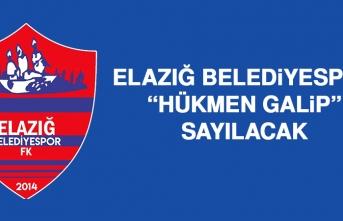 """Elazığ Belediyespor, """"Hükmen Galip"""" Sayılacak"""