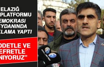 Elazığ STK Platformu Demokrasi Meydanı'nda Açıklama Yaptı