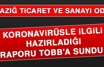 Elazığ TSO, Korona Virüsle İlgili Hazırladığı Raporu TOBB'a Sundu