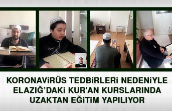 Elazığ'daki Kur'an Kurslarında Uzaktan Eğitim Yapılıyor