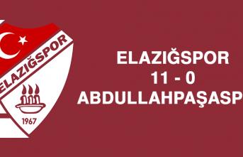 Elazığspor 11 - 0 Abdullahpaşaspor