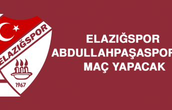 Elazığspor, Abdullahpaşaspor'la Maç Yapacak