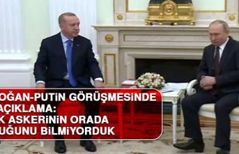 Erdoğan-Putin Görüşmesinde İlk Açıklama Geldi