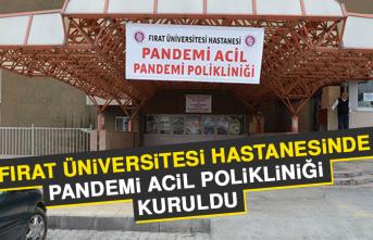 Fırat Üniversitesi Hastanesinde Pandemi Acil Polikliniği Kuruldu
