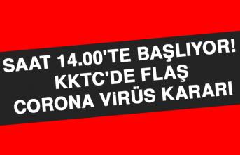 KKTC'de Flaş Corona Virüs Kararı