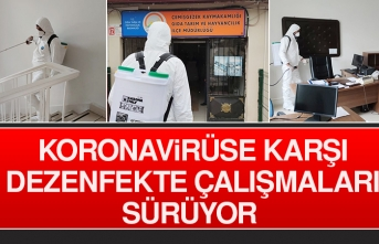 Korona Virüse Karşı Dezenfekte Çalışmaları Sürüyor